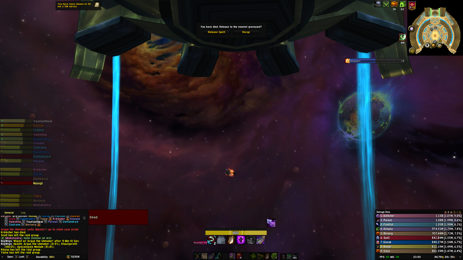 when you shadowstep the dying orb on the last pull on argus : D / Submitted by Flyaroundtro