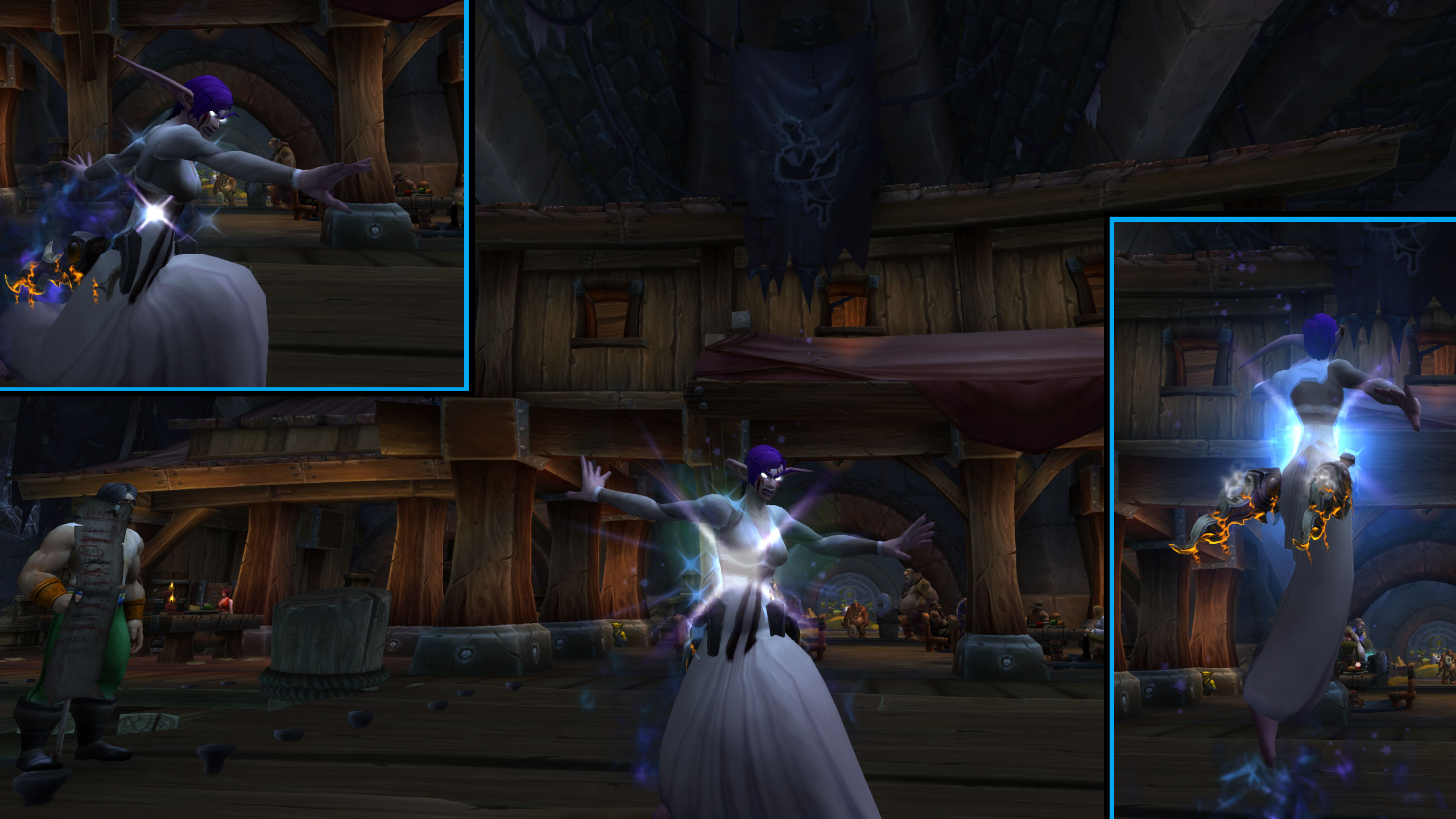 In Legion I finally bought myself a dress so I can look pretty while I  twirl ...  pirouette  ... help deadbeat healers  ... lose dps  ... avoid the bench  ... Feint. / Submitted by Cardstock