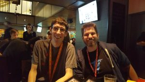 Tamen (left) and Fierydemise at PAX Prime